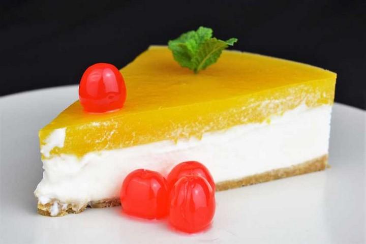 Cheesecake de mango, tarta fría sin horno. Programa nº 102