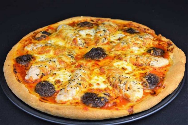 Pizza de pollo con salsa casera para pizza. Programa nº 139