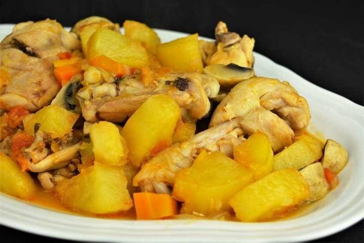 Pollo a la campesina, receta para dieta. Programa nº 115