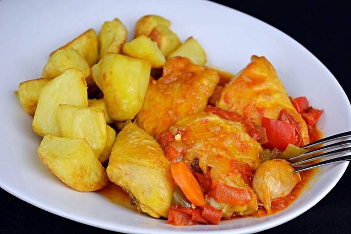 Pollo a la riojana con patatas. Programa nº 167