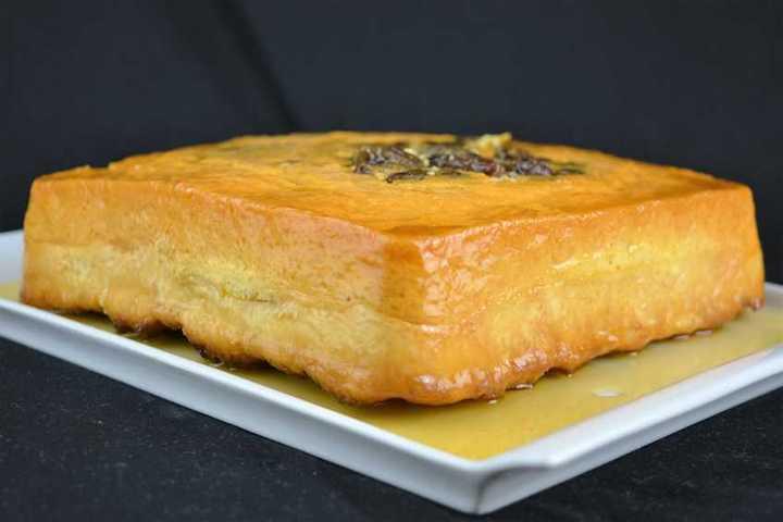 Pudin de pan con pasas y ron | Javier Romero
