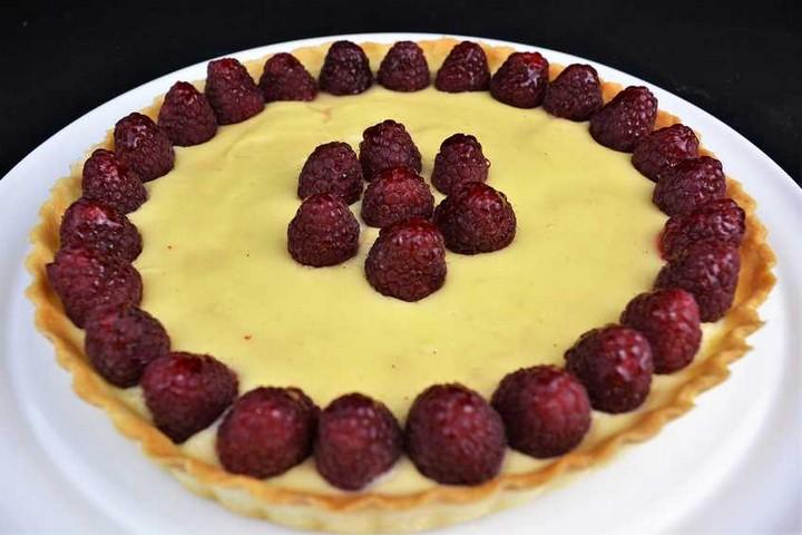 Tarta de frambuesas con chocolate blanco. Programa nº 107