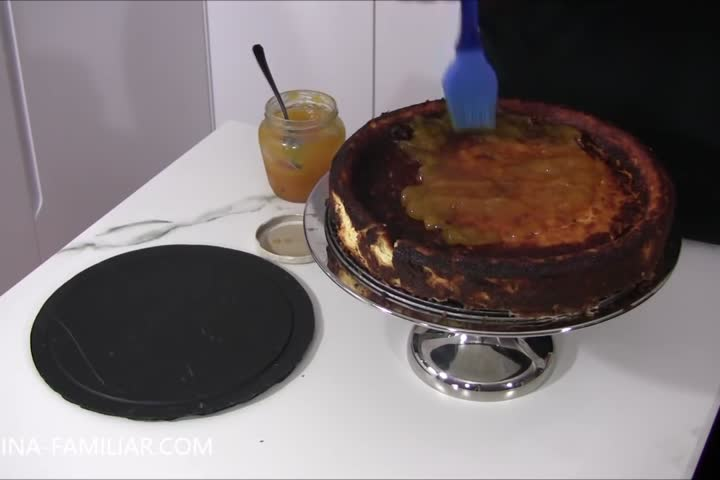 Tarta de queso muy cremosa
