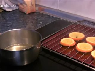 Cómo hacer naranja confitada