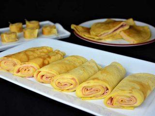 Crepes rellenas de jamón y queso. Programa nº 9