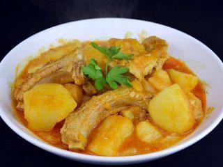Estofado de patatas con costilla de cerdo. Programa nº 168