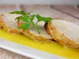 Lomo de cerdo asado con salsa de naranja | Javier Romero