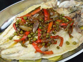 Lubina al horno con patatas y wok de verduras. Programa nº 67