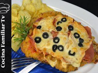 Milanesa a la napolitana y ensalada de pimientos l Cocina familiar TV