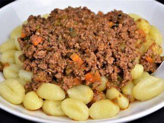 Ñoquis con salsa boloñesa. Programa nº 124
