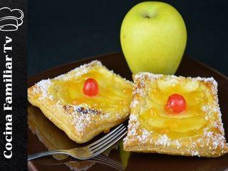 Pastel de manzana y napolitanas de crema l Cocina familiar TV
