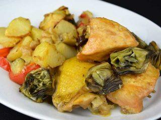 Pollo a la sidra con Shanfaina de verduras. Programa nº 40