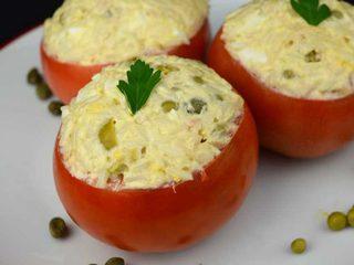 Tomates rellenos con ensaladilla rusa de arroz. Programa nº 60