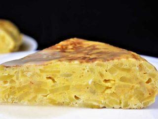 Tortilla de patata con salsa de cebolla. Programa nº 19